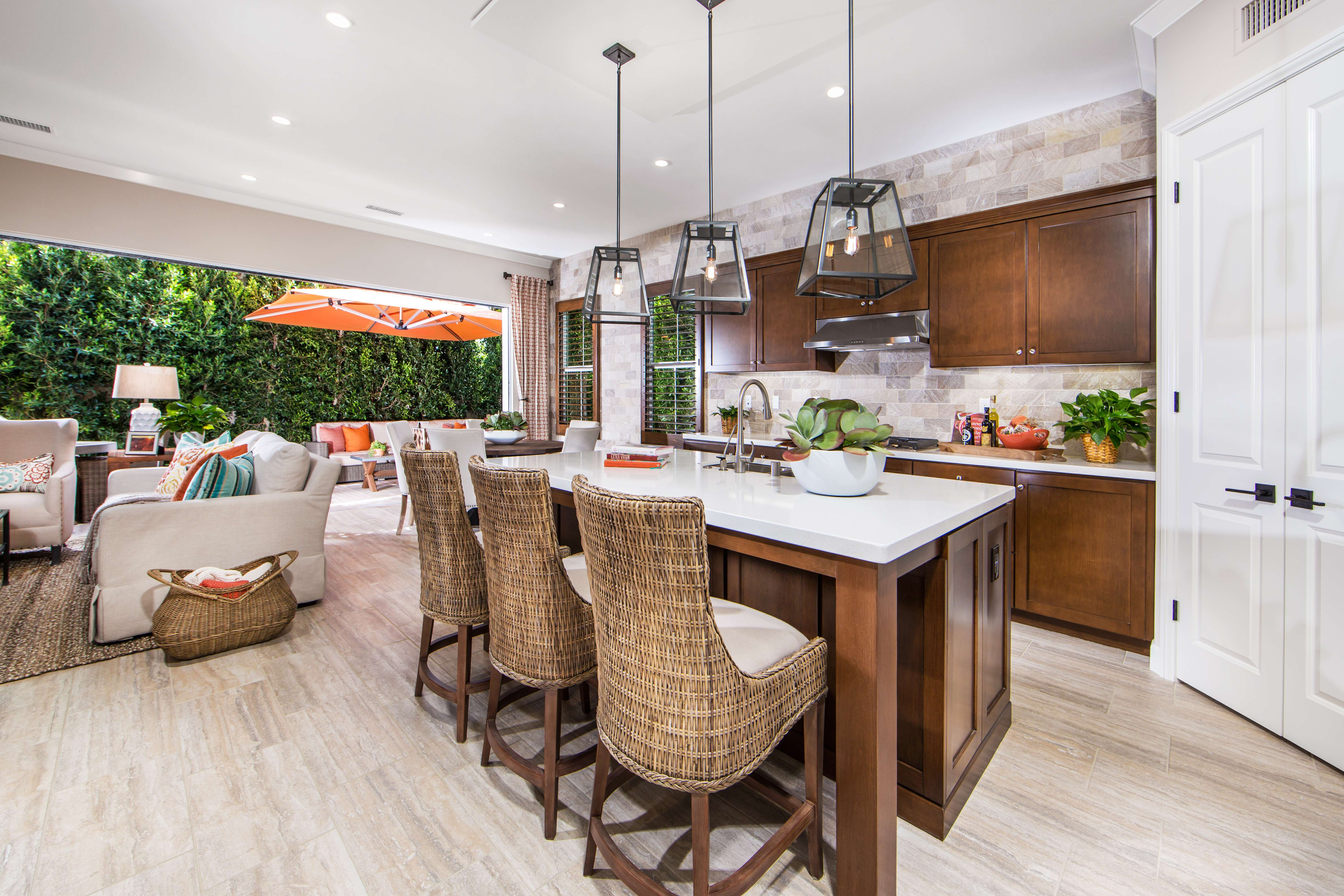 Kitchen at Marin Residence 1 in Irvine