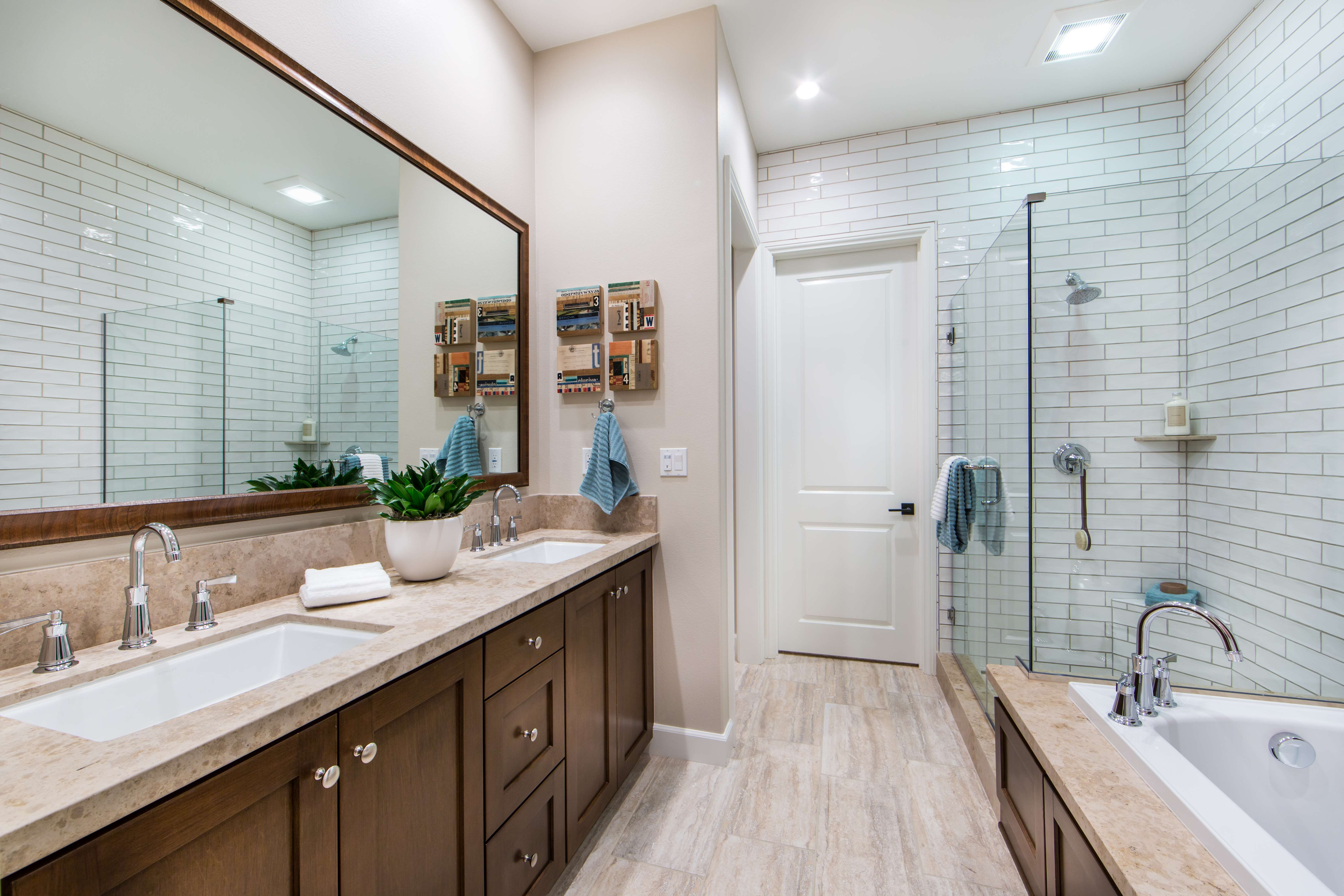 Master Bathroom at Marin Residence 1 in Irvine