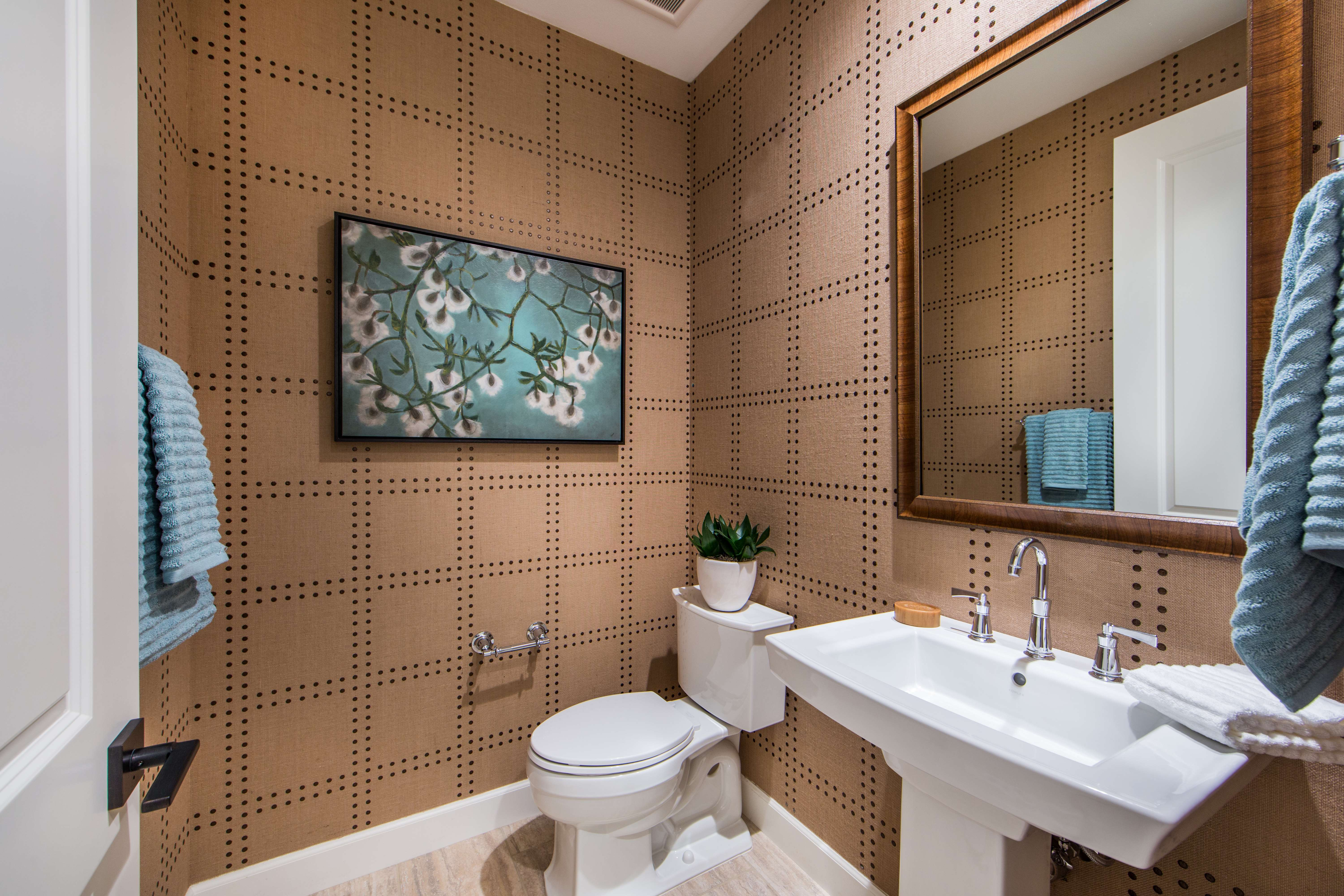 Powder Room at Marin Residence 1 in Irvine