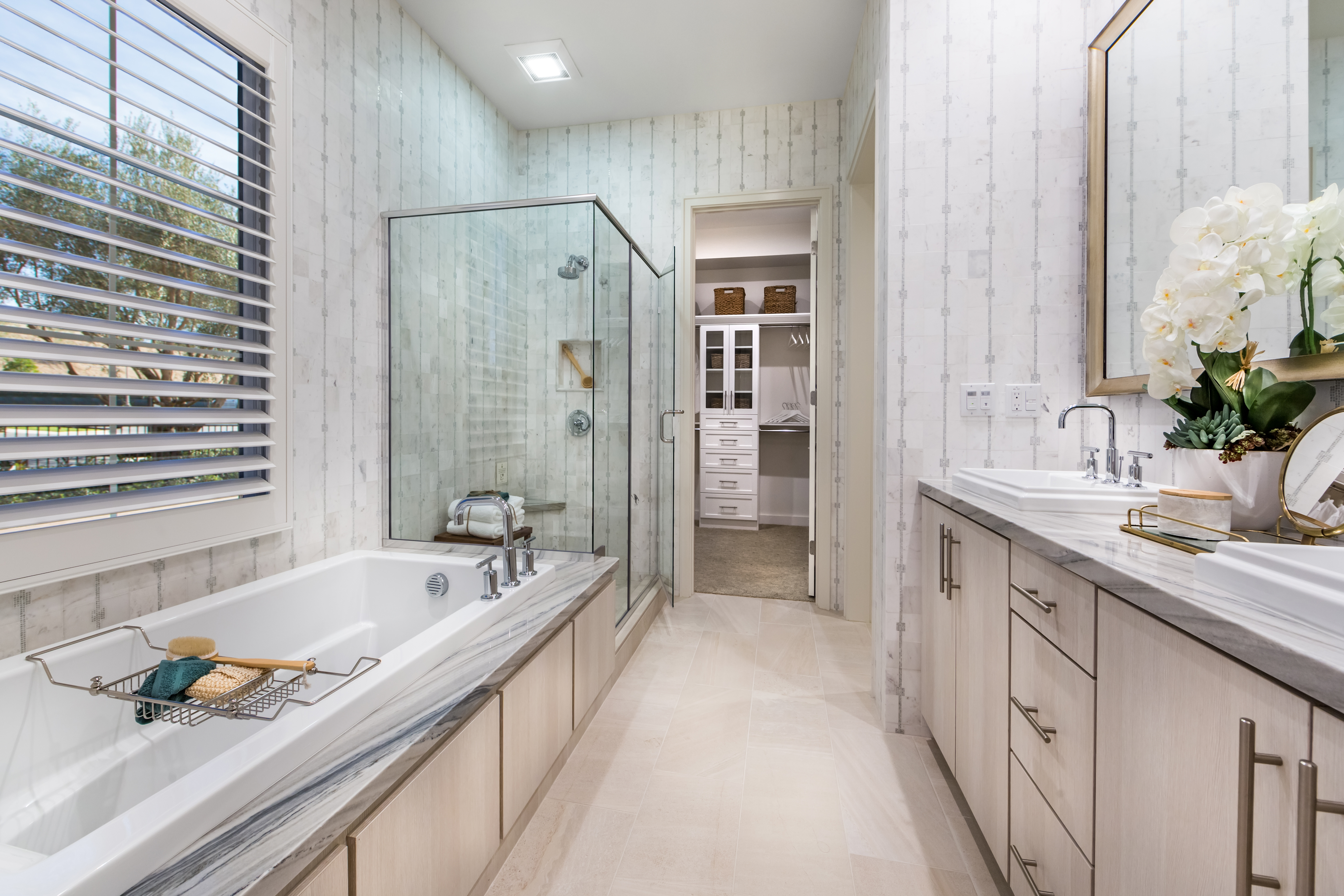 Master Bathroom at Verdi Residence 1 in Irvine