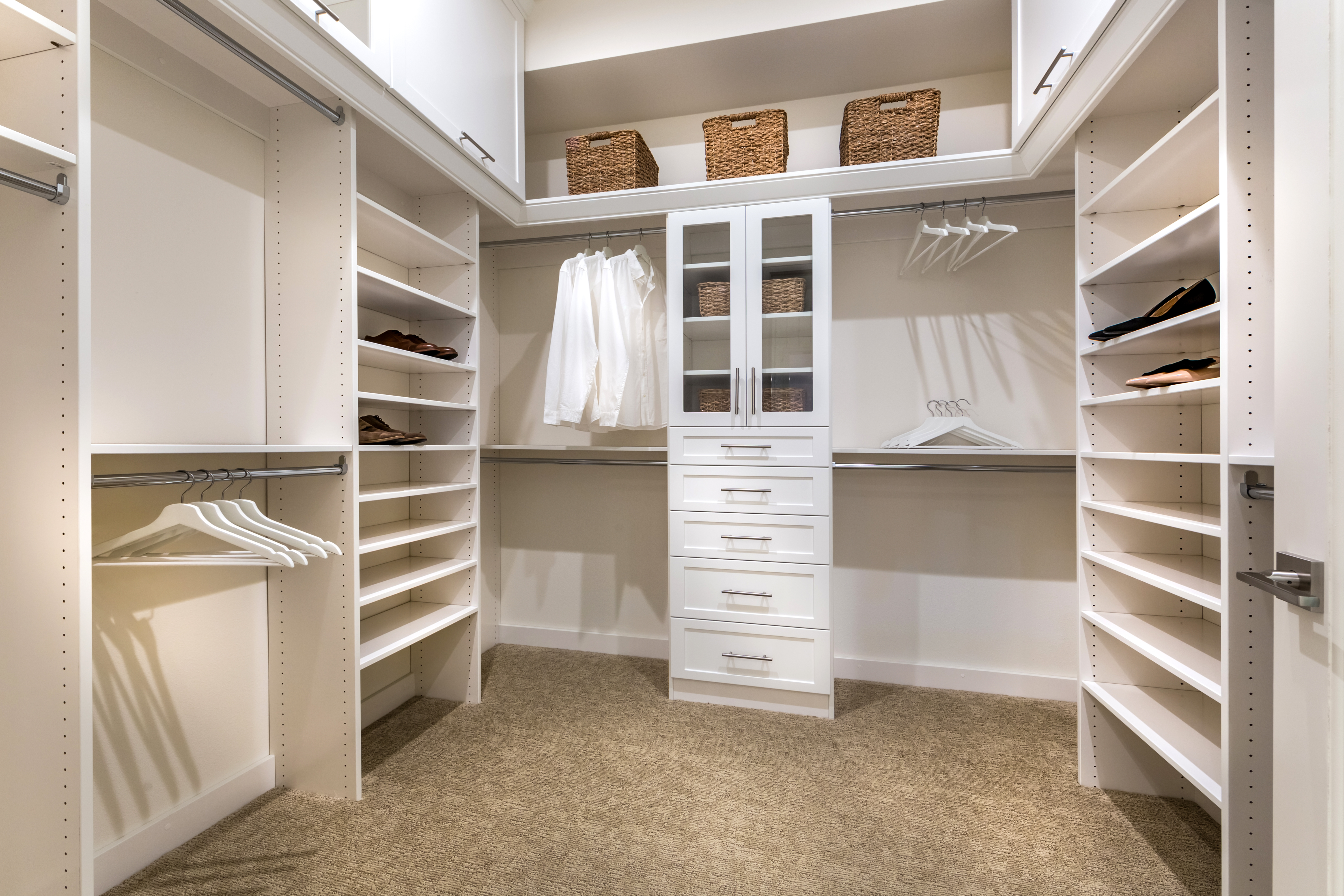 Master Closet at Verdi Residence 1 in Irvine