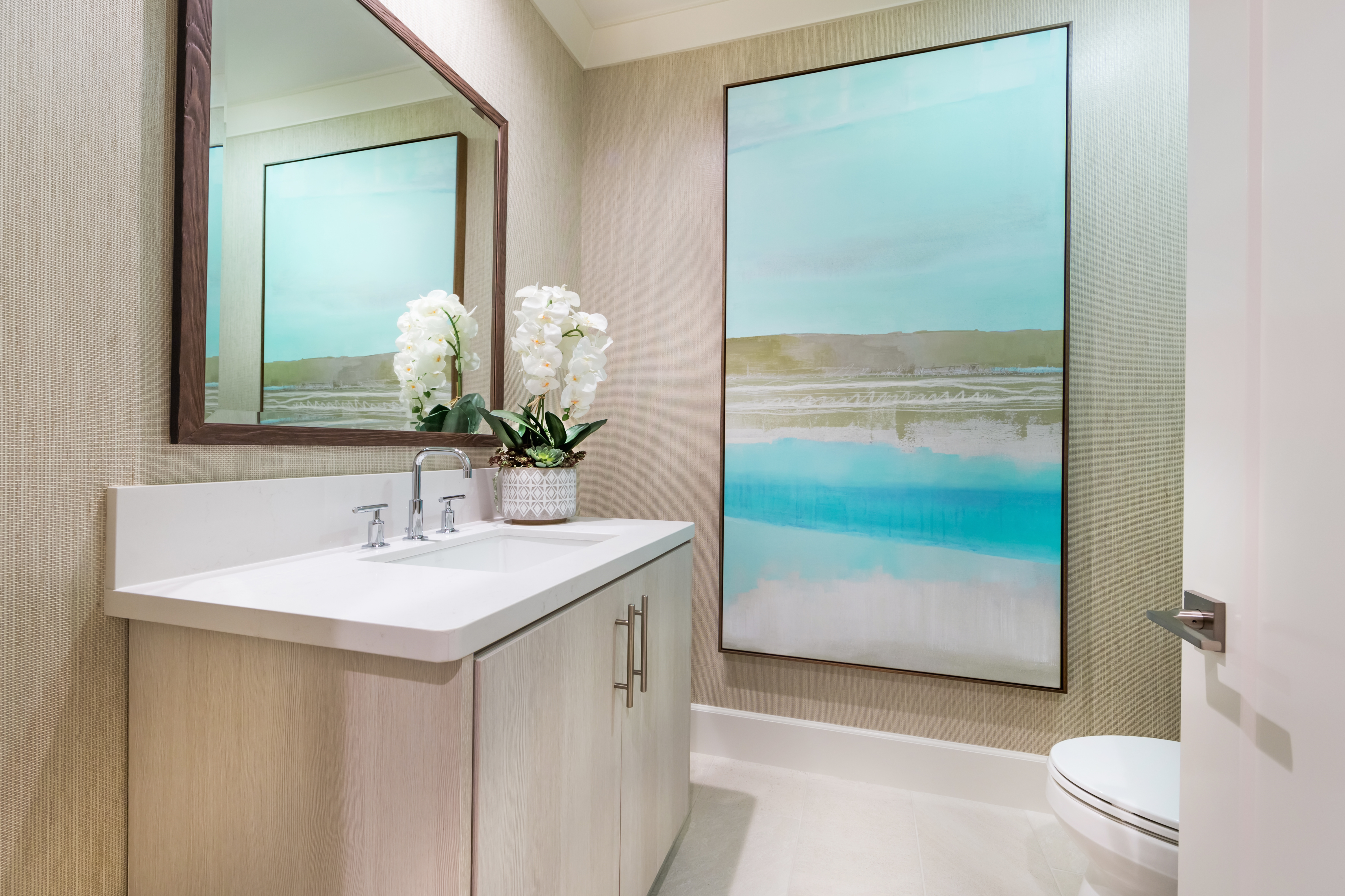 Powder Room at Verdi Residence 1 in Irvine