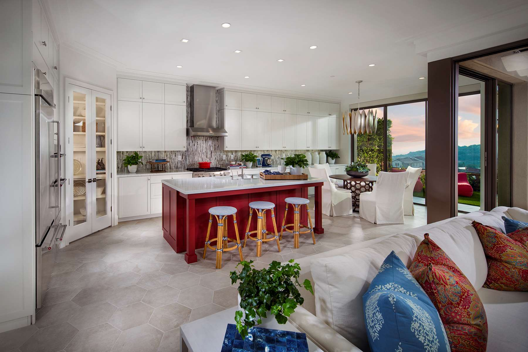 Kitchen at Como Residence 2 in Irvine