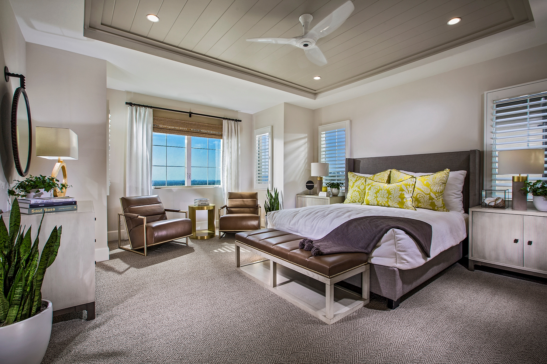 Master Bedroom at Como Residence 1 in Irvine
