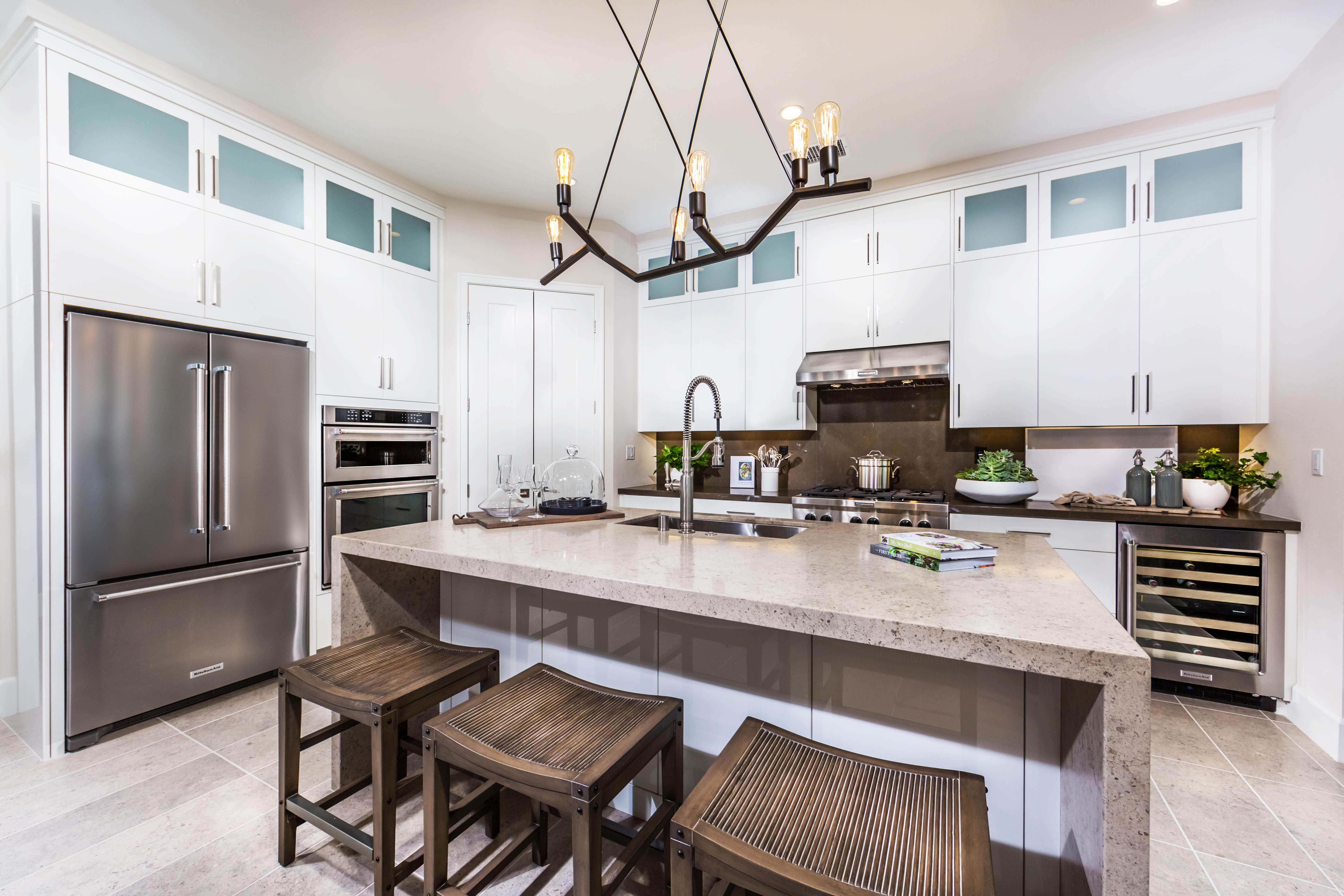 Kitchen Detail at Como Residence 1 in Irvine