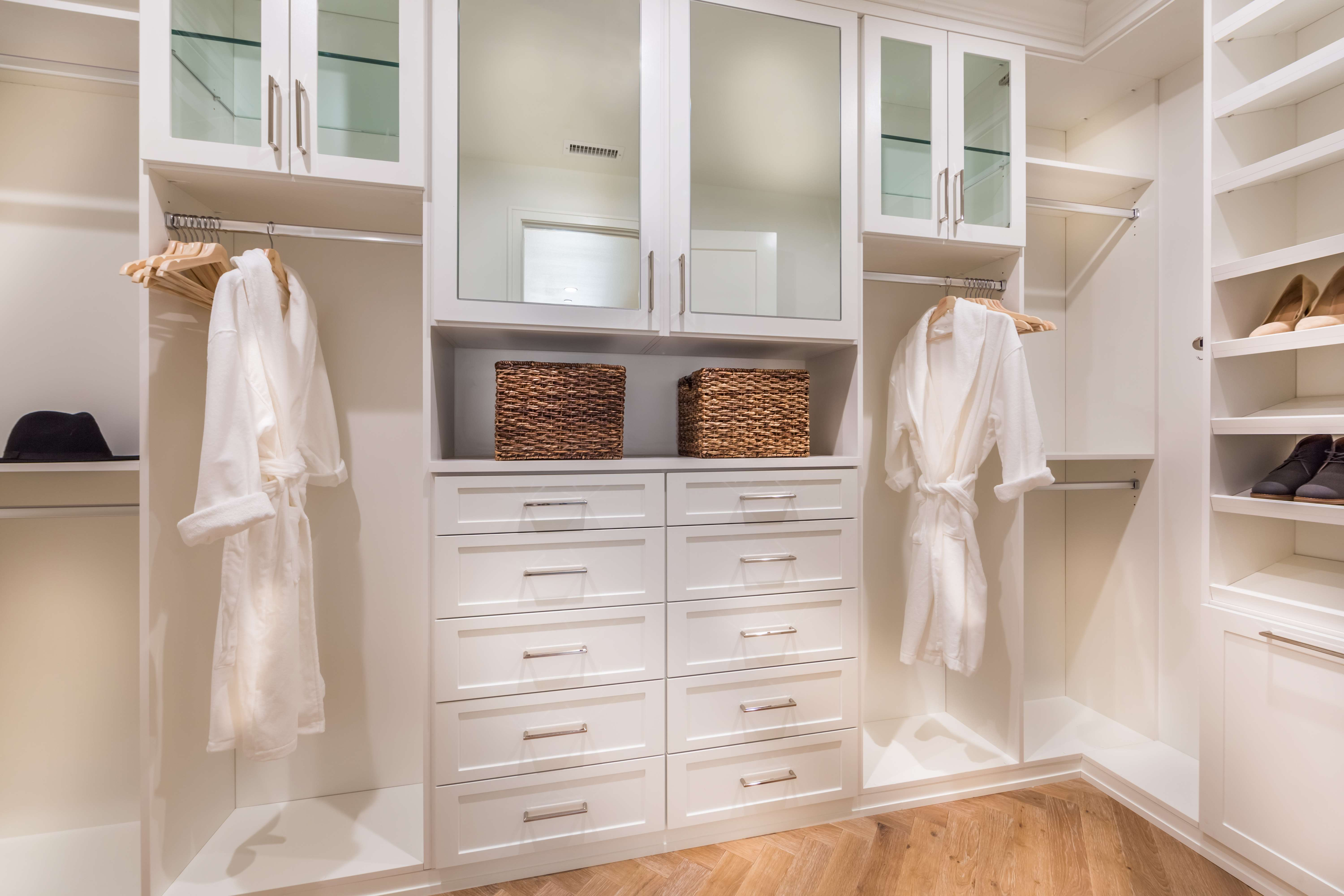 Master Closet at Terra Residence 2 in Irvine