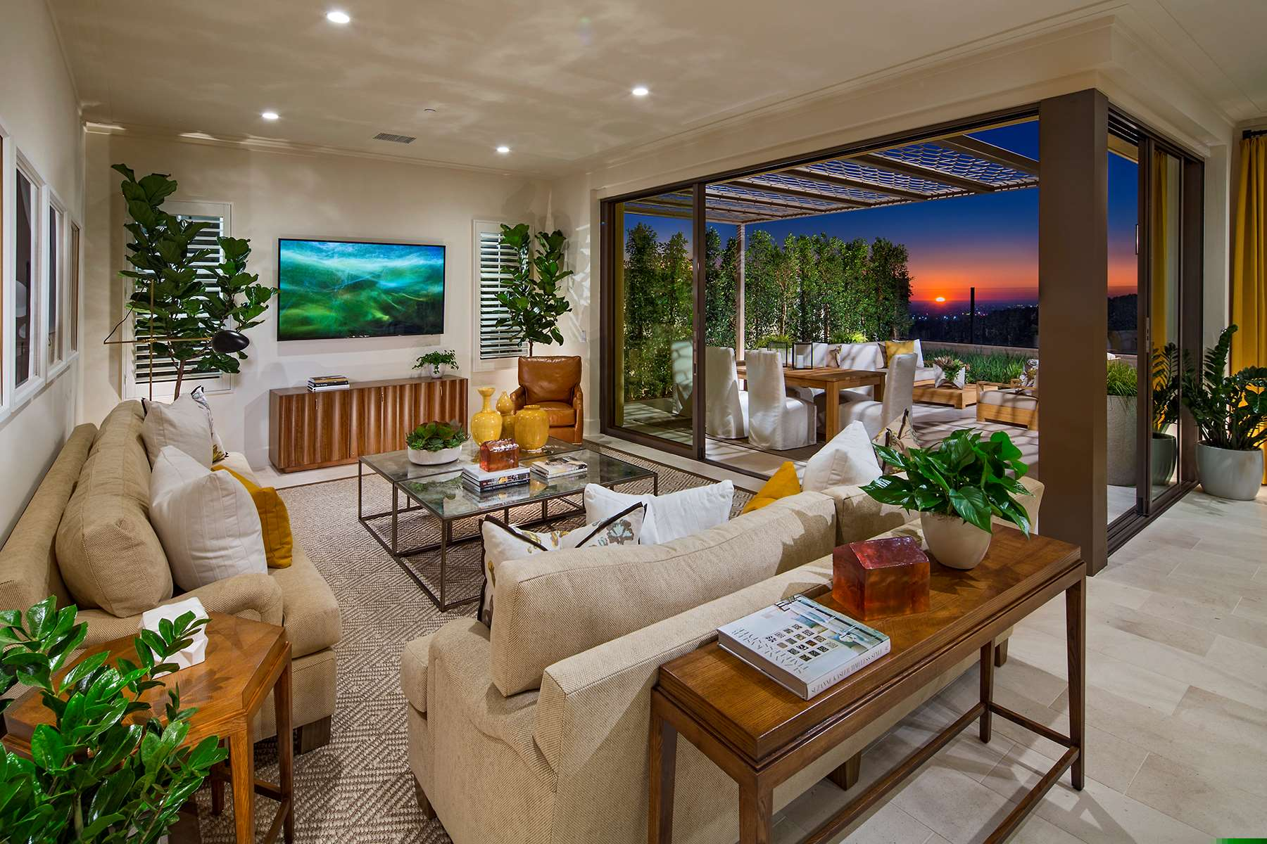 Family Room at Terra Residence 1 in Irvine