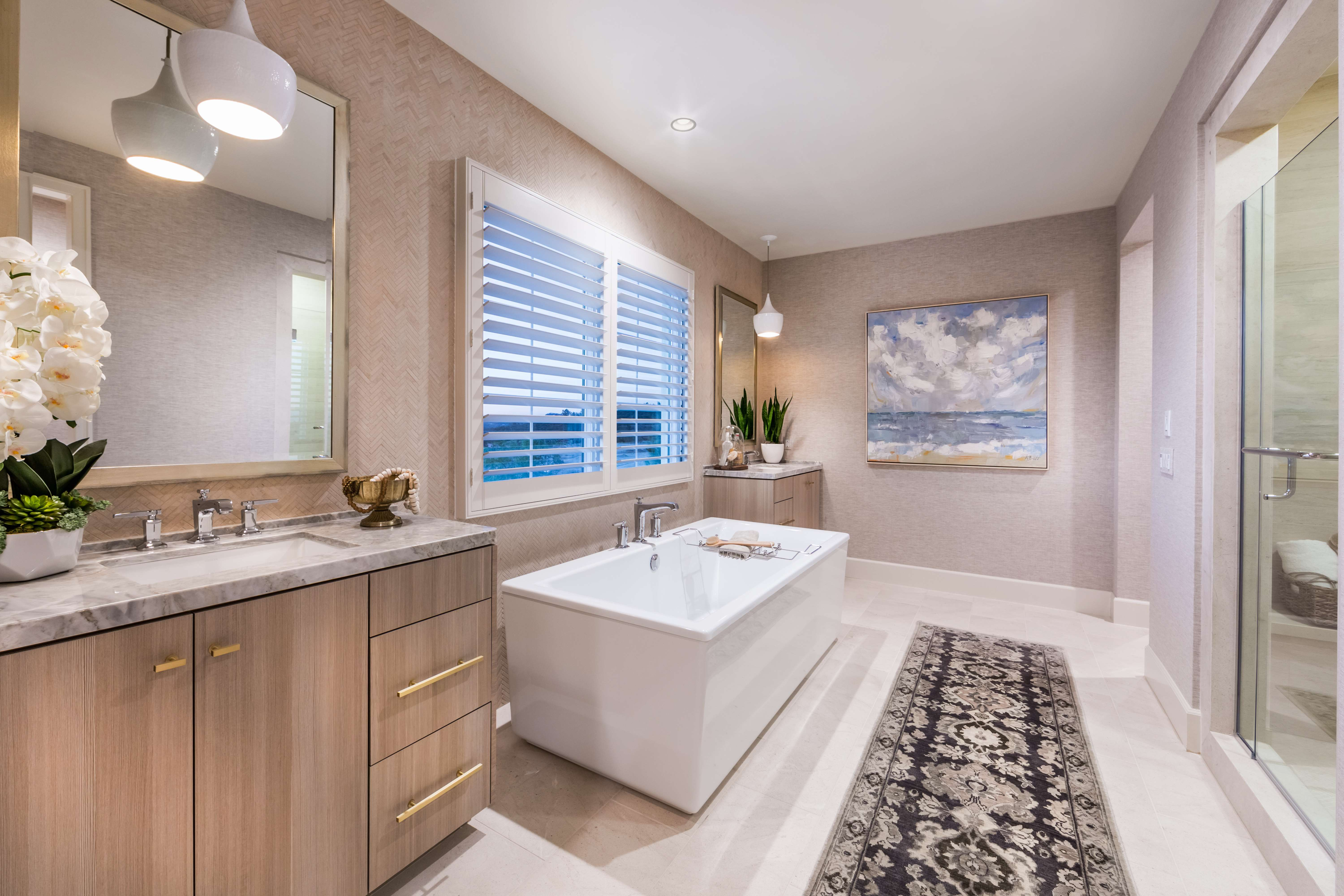 Master Bathroom at Terra Residence 1 in Irvine