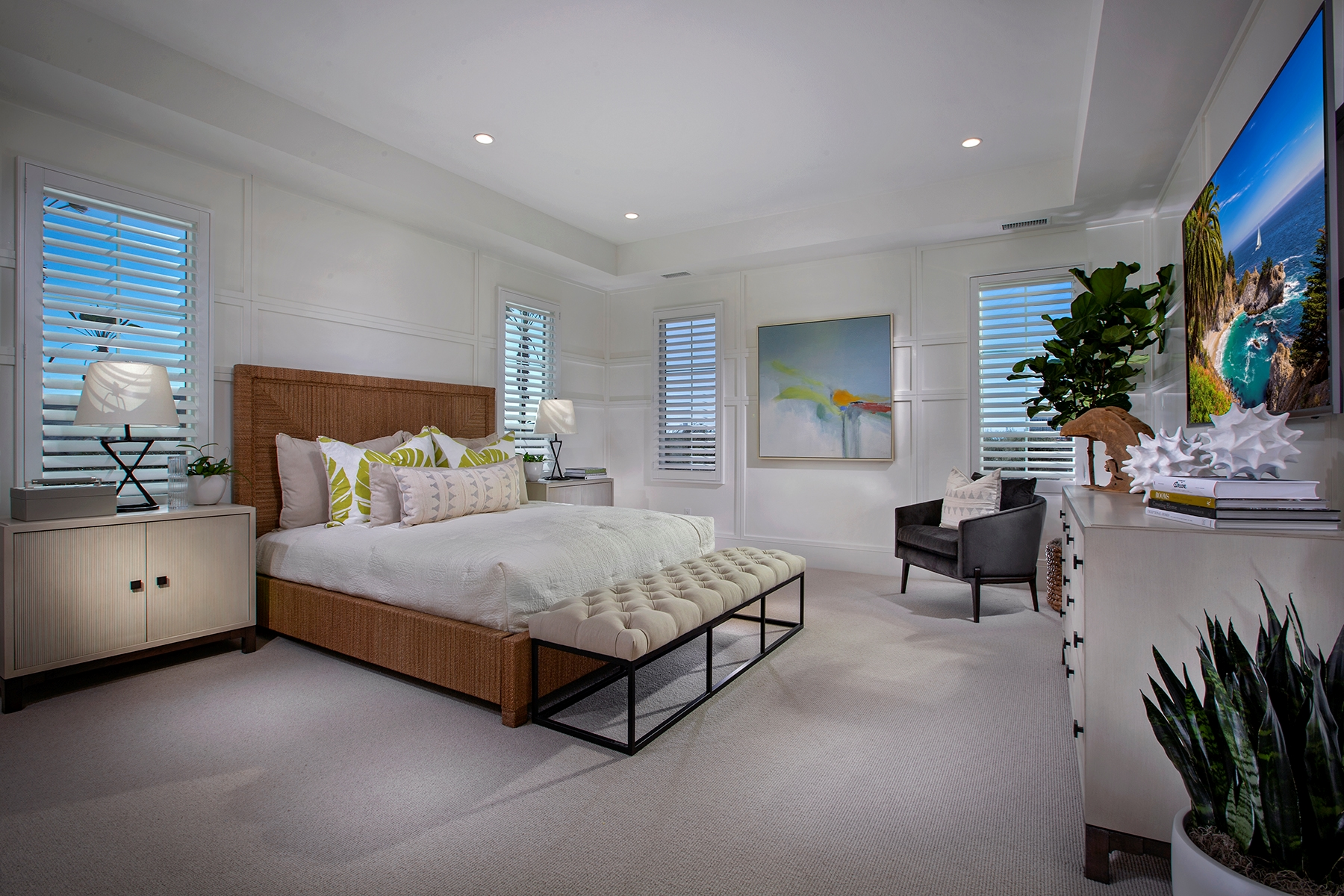 Master Bedroom at Barcelona Residence 3 in Irvine