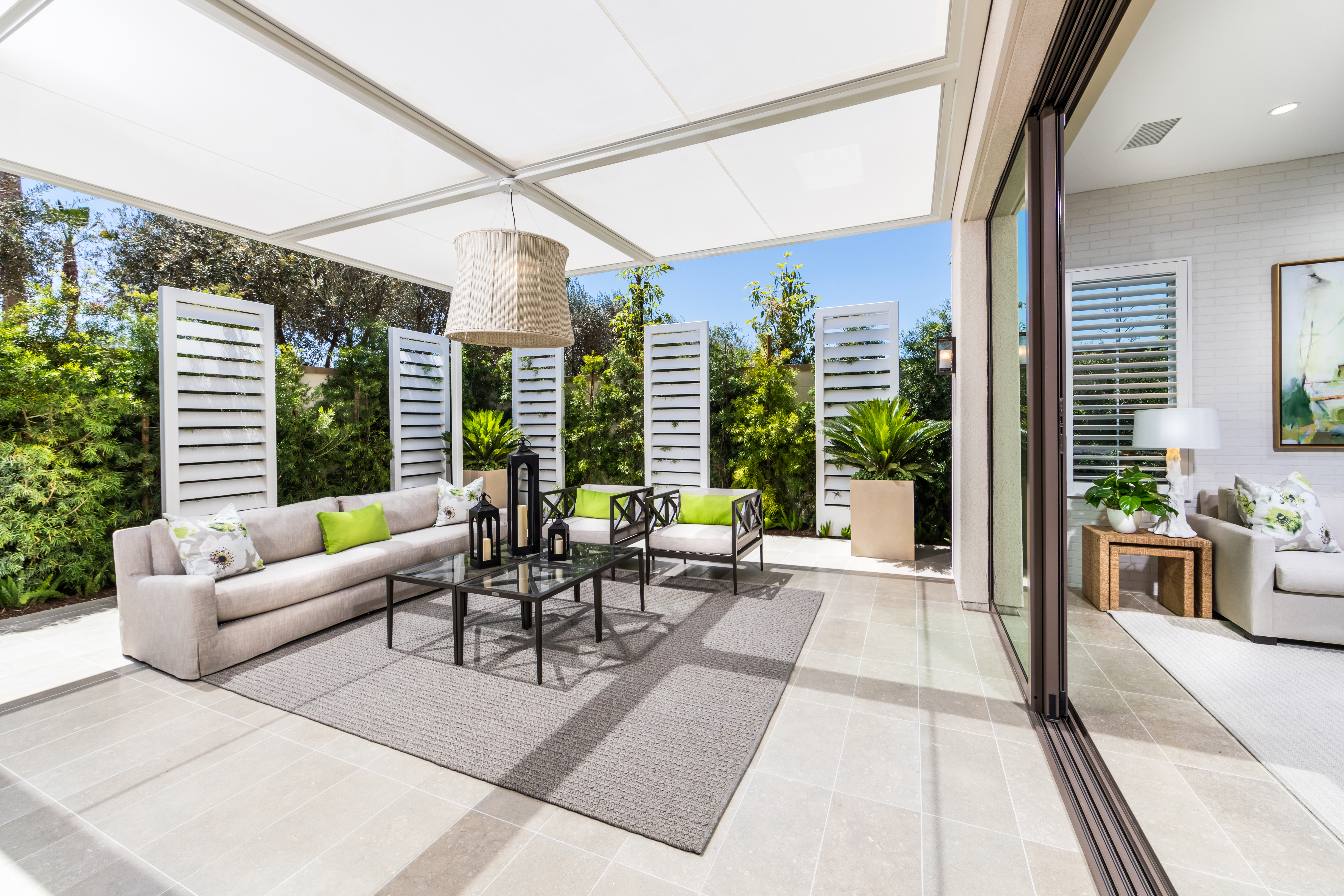 Outdoor Patio at Barcelona Residence 3 in Irvine