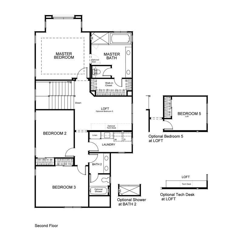 Como Plan 1 Second Floor