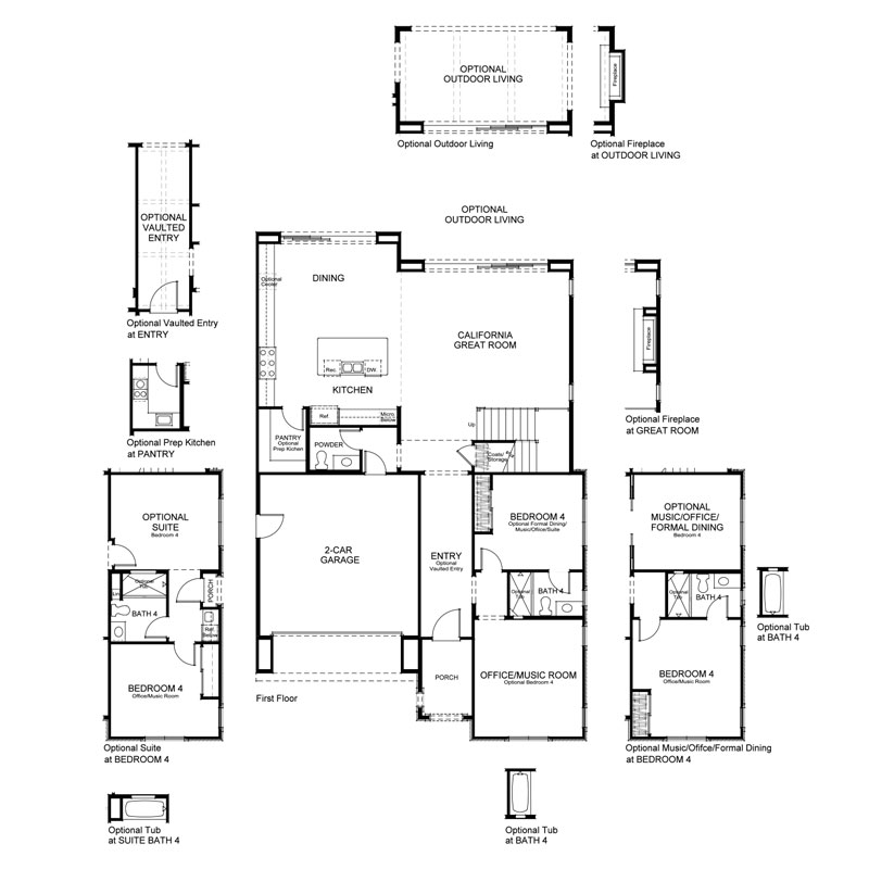 Ravello Plan 3X First Floor