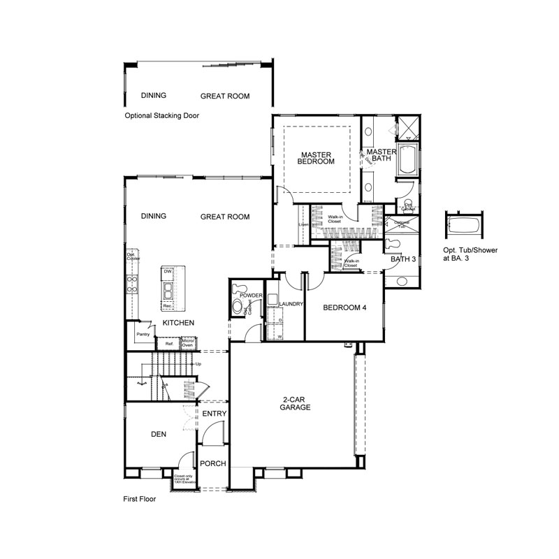 Marin Plan 1X First Floor