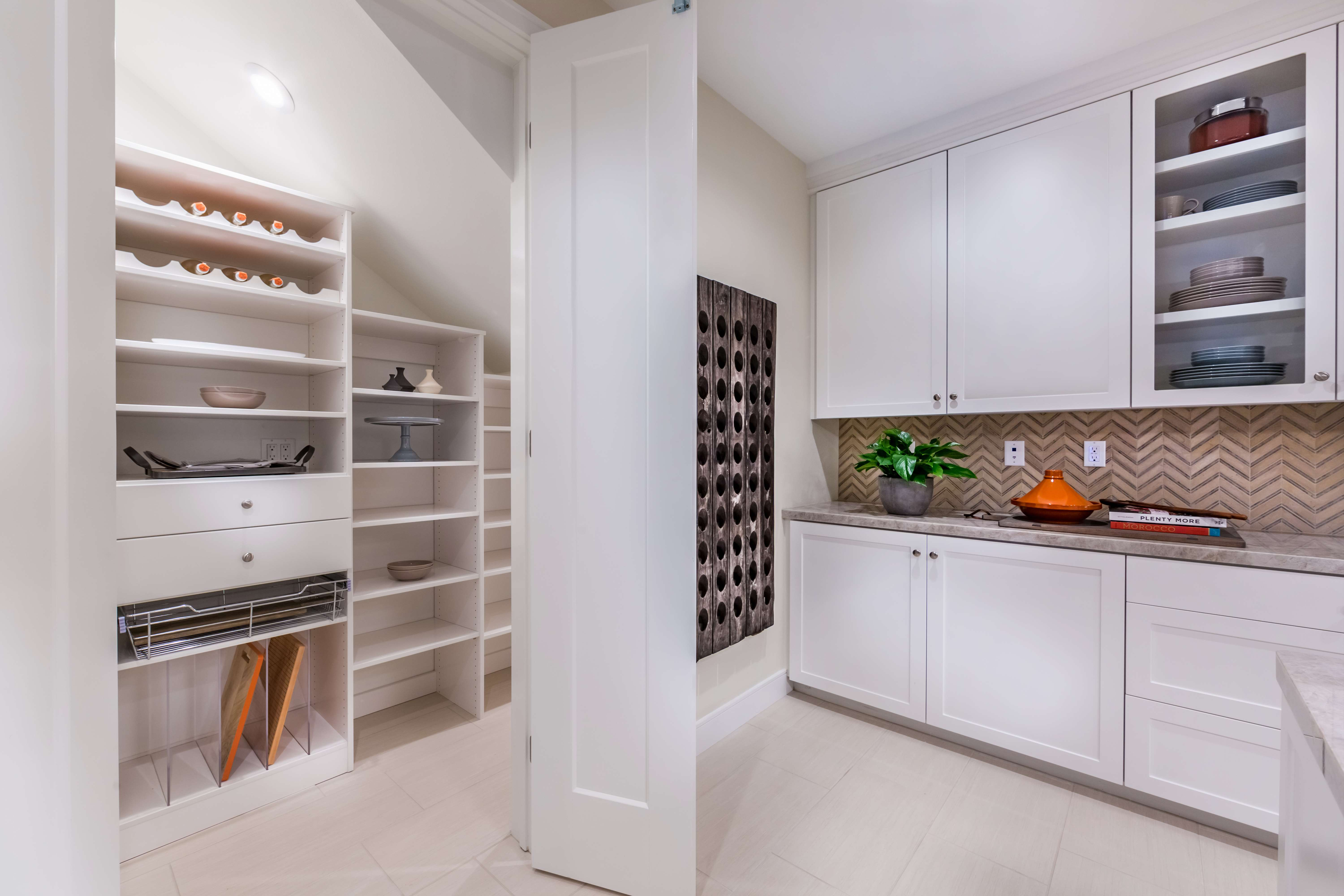 Kitchen Pantry at Lago Residence 2 in Irvine