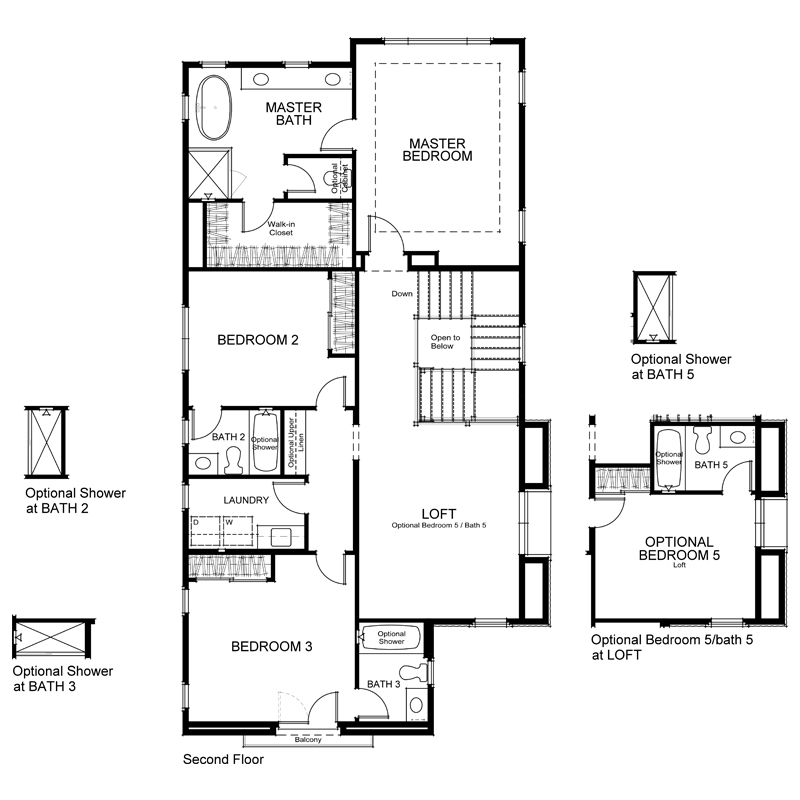 Highland Plan  2X Second Floor