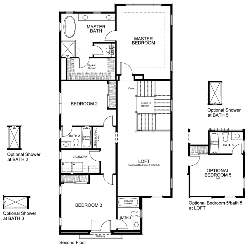 Highland Plan 2 Second Floor